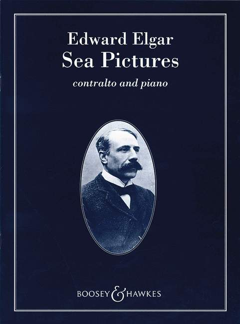 Sea Pictures op 37 Song-Cycle Elgar vocal//piano score contralto and orchestra